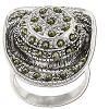 Sterling Silver Genuine Marcasite Cowboy Hat Ring